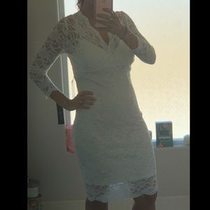 NWT White Party/Rehearsal Dinner Lace Dress Sz 8